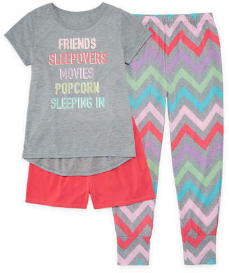 Arizona 3pc Sleepover Pajama Set - Girls 4-16