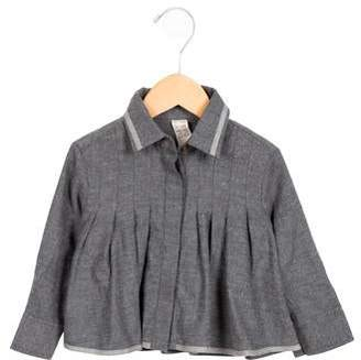 Tia Cibani Girls' Gathered Button-Up Top w/ Tags
