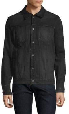 Nudie Jeans Green Ronny Coated Denim Jacket