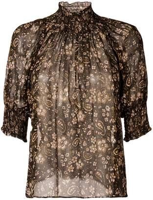 Ulla Johnson ruffled collar silk blouse
