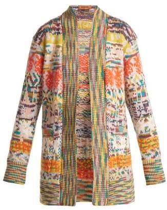 Missoni Long Line Intarsia Knit Cardigan - Womens - Multi