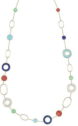 Ippolita 18K Polished Rock Candy Mixed-Link & Slice Necklace in Riviera Sky