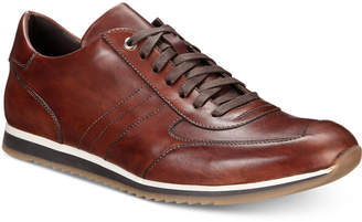 Massimo Emporio Men Leather Lace-Up Trainers, Men Shoes