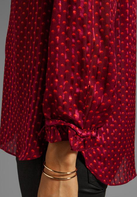 Marc by Marc Jacobs Minetta Print Silk Top