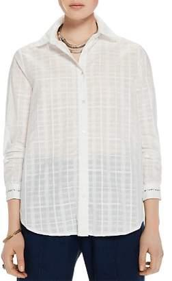 Scotch & Soda Sheer Cotton Checked Shirt