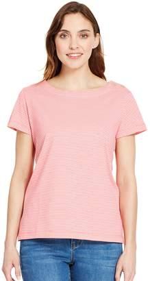 Izod Women's Button-Shoulder Boatneck Tee