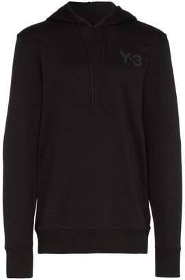 Y-3 logo printed cotton hoodie