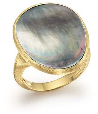 Marco Bicego 18K Yellow Gold Lunaria Ring with Black Mother-of-Pearl