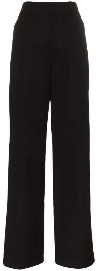 Prada cotton high waist trousers