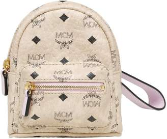 MCM Mini Faux Leather Backpack Pouch