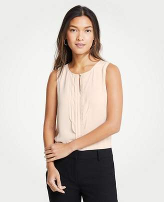 Ann Taylor Pearlized Pleated Shell