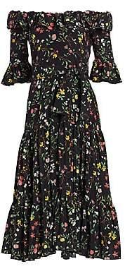 Altuzarra Women's Helden Floral Silk Midi Dress