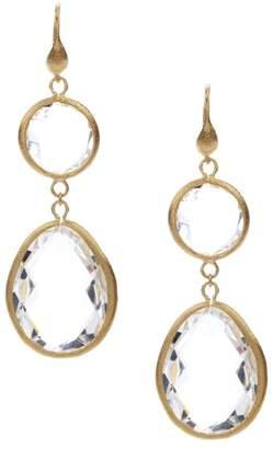 Rivka Friedman Rock Crystal Dangle Earrings