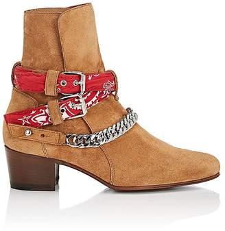 Amiri Women's Bandana-Strap Suede Jodhpur Boots