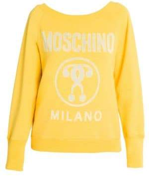 Moschino Roundneck Long Sleeve Logo Sweatshirt