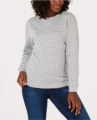Karen Scott Dot-Print Sweatshirt, Created for Macy's