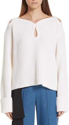 Hellessy Keyhole Shoulder Merino Wool Sweater
