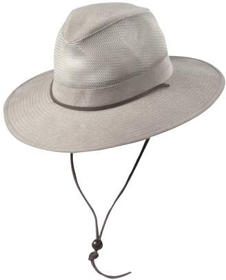 Dorfman Pacific Brushed Twill Safari Hat