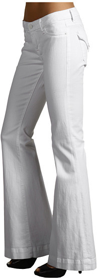 Hudson Ferris Flap Pocket Flare in White