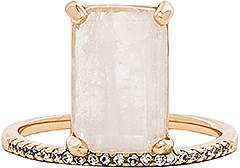 Melanie Auld Emerald Cut Stacking Ring