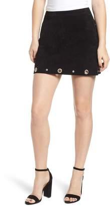 Blank NYC BLANKNYC Grommet Suede Skirt
