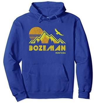 Bozeman Montana Hoodie Retro Pullover Sweatshirt