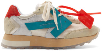 Off-White Off White White and Blue HG Runner Sneakers