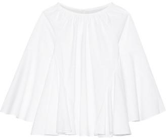 Co - Pleated Cotton Blouse - White $395 thestylecure.com