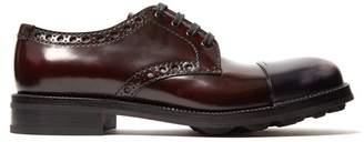 Prada Contrast-toe lace-up leather brogues