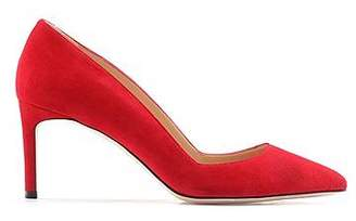 HUGO BOSS Suede pointed-toe pumps with full-leather sole