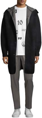 Lanvin Men's Plaid Wool-Blend Coat