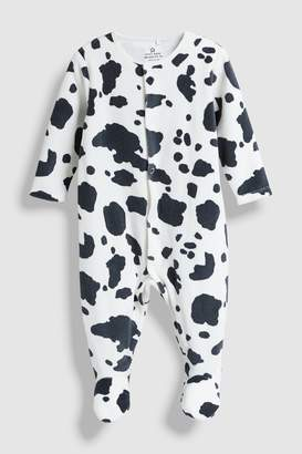 Next Monochrome Animal Print Velour Sleepsuit (0-18mths)