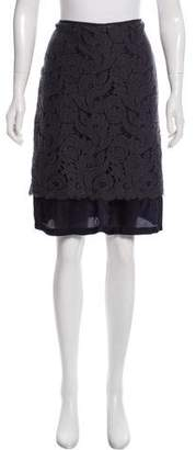 Dries Van Noten Knee-Length Lace Skirt