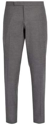 Thom Browne Side Stripe Wool Trousers - Mens - Grey