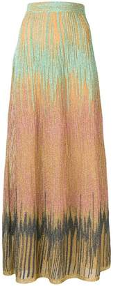 M Missoni lurex maxi skirt