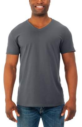 Fruit of the Loom Big Mens' Soft Short Sleeve Lightweight V Neck T Shirt, 4 Pack