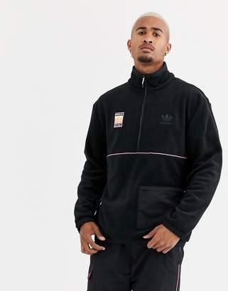 adidas adiplore polar fleece jacket in black
