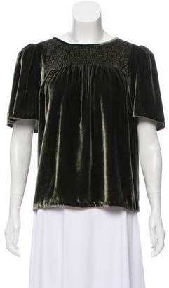Rebecca Taylor Ruched Velvet Top w/ Tags