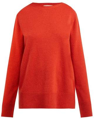 The Row Sibel Wool And Cashmere Blend Sweater - Womens - Red