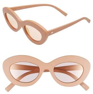 Le Specs Fluxus 48mm Cat Eye Sunglasses