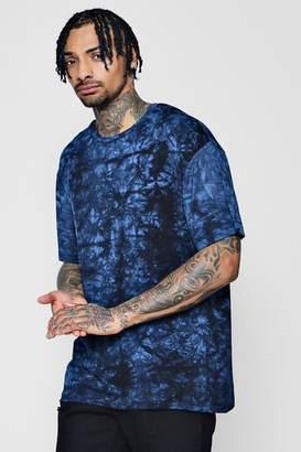 boohoo Boxy Fit Tie Dye T-Shirt