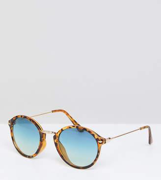 South Beach Round Blue Lens Sunglasses