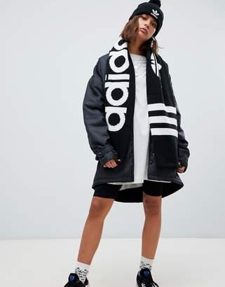 adidas Trefoil Logo Scarf In Black