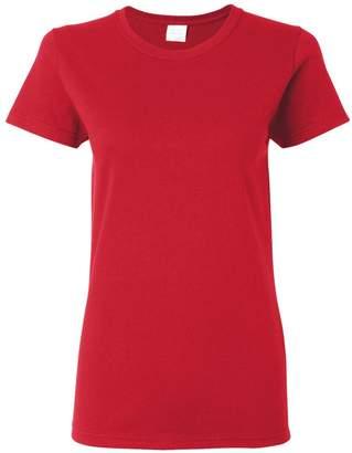 Gildan Womens 5.3 oz. Heavy Cotton Missy Fit T-Shirt (G500L) -M-12PK