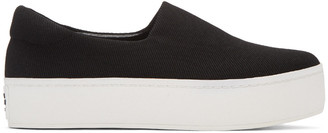 Opening Ceremony Black Classic Platform Slip-On Sneakers $195 thestylecure.com