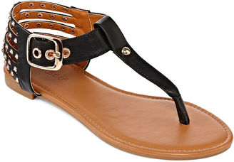 Bamboo Candice Studded Thong Sandals $24.99 thestylecure.com