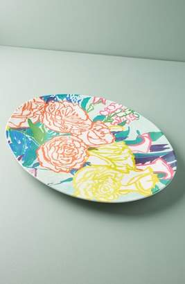 Anthropologie Paint + Petals Melamine Serving Platter