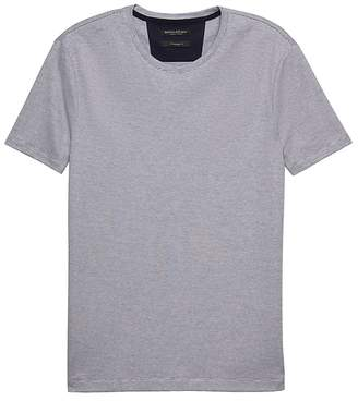 Banana Republic Luxury-Touch Mini Stripe Crew-Neck T-Shirt