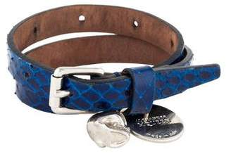 Alexander McQueen Leather Skull Wrap Bracelet