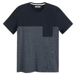 Mango man MANGO MAN Pocket contrast-bodice t-shirt